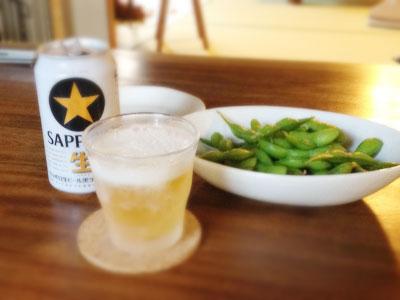 サッポロビールと枝豆