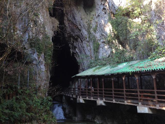 秋芳洞の入口
