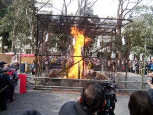 大国魂神社のどんど焼き
